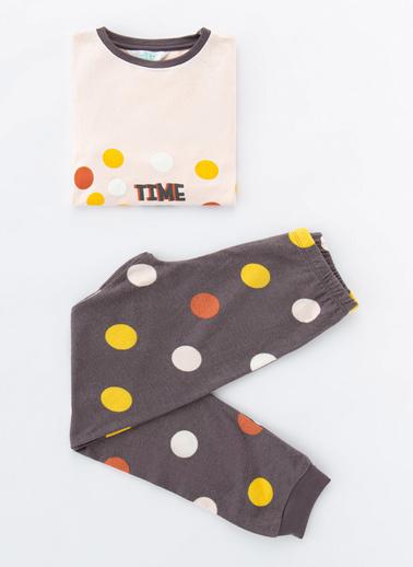 Penti Çok Renkli Kız Çocuk Confettı Termal 2Li Pijama Takımı Renkli